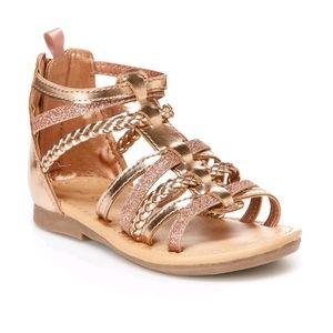 Carter's Rose Gold Braided Gladiator Sandals
